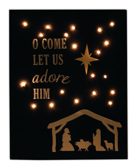 Crafts Direct Project Ideas: Adore Him Light Up Canvas