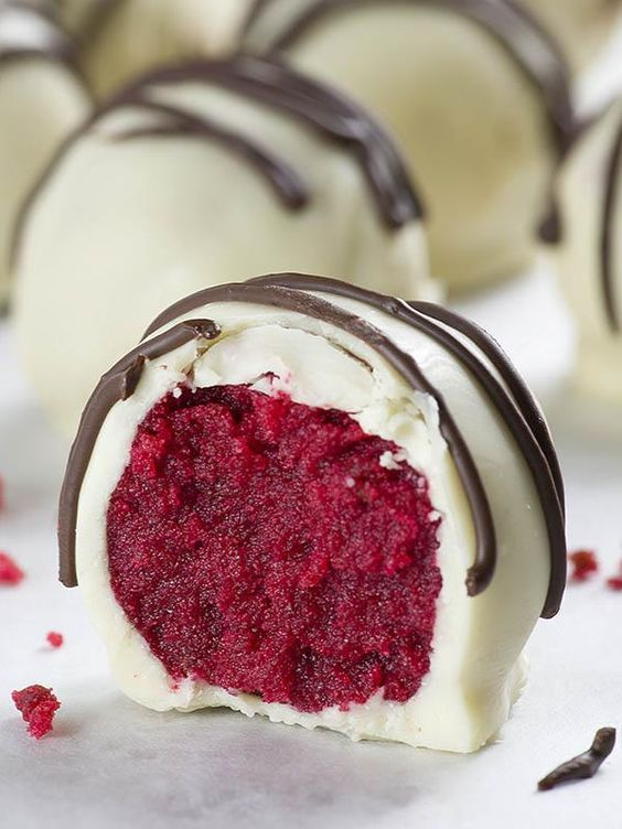 Quick And Easy No Bake Red Velvet Truffles Recipe Recipe Desserts Chocolate Dessert Recipes Red Velvet Truffles