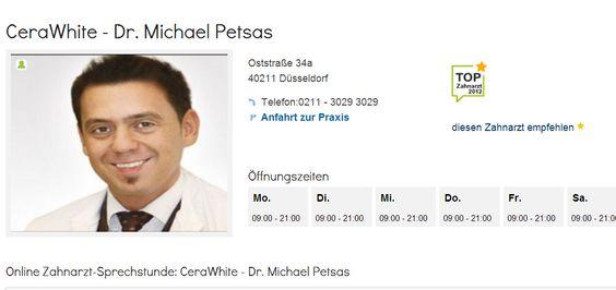 Zahnarzt Dr. Petsas aus Düsseldorf, wurde zum Top Zahnarzt 2012 gekürt.