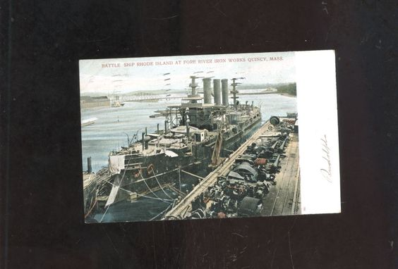 old Quincy Point MA  postcardBattleship Rhode Island Fore River ship-yard https://t.co/x7kkITZFcs https://t.co/U9n0bHQtXY http://twitter.com/Foemvu_Maoxke/status/774652665078906880
