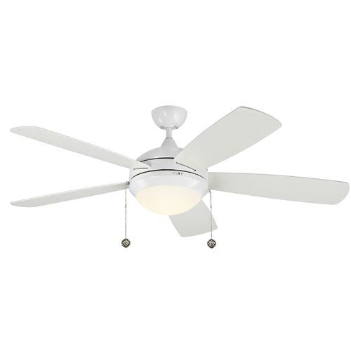 Darby Home Co 52 Anais Classic 5 Blade Led Ceiling Fan Reviews Wayfair Ceiling Fan Led Ceiling Fan Coastal Ceiling Fan