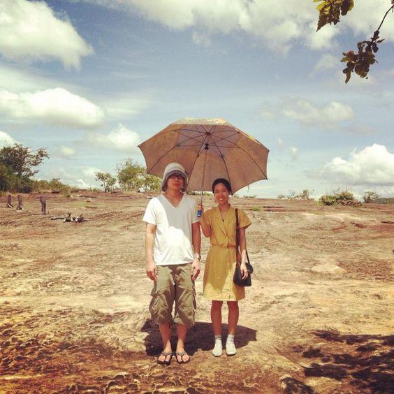 My and bf in Ubonratchathani, Thailand