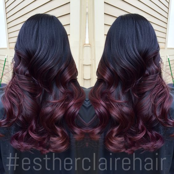 ombre redombre colormelt balayage estherclairehair