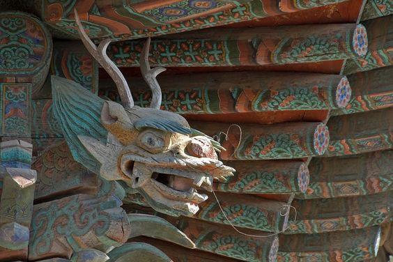Ornamental Dragon at Bulguksa Temple in Gyeongju, South Korea