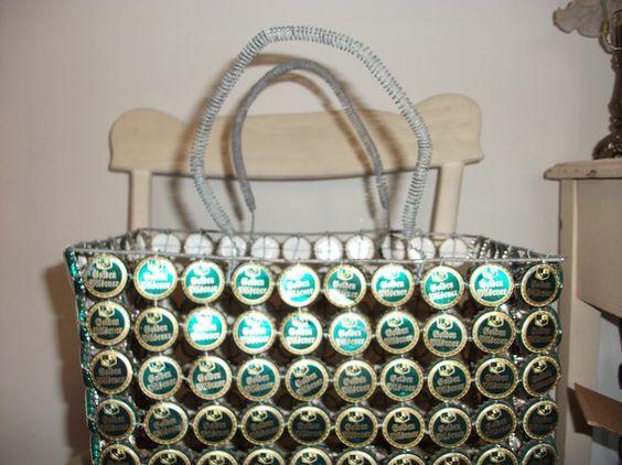 basket 2 make from bottle tops