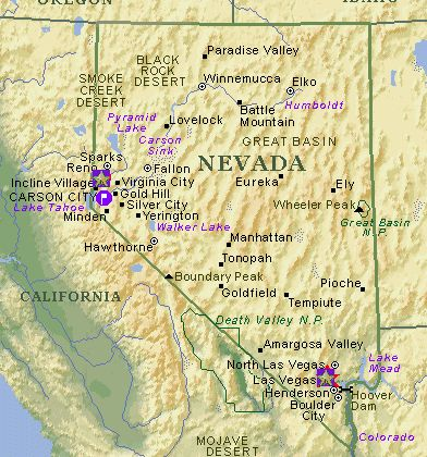 Nevada Karte ile ilgili görsel sonucu Nevada Karte