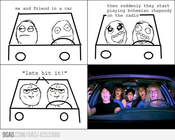 Bohemian Rhapsody + car =