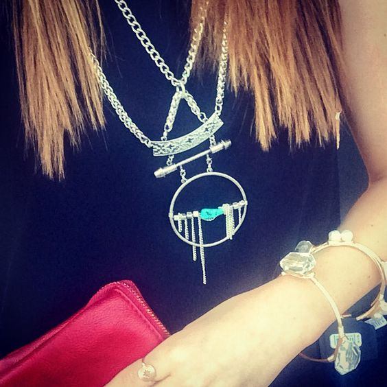 A boho statement necklace can transform any outfit.