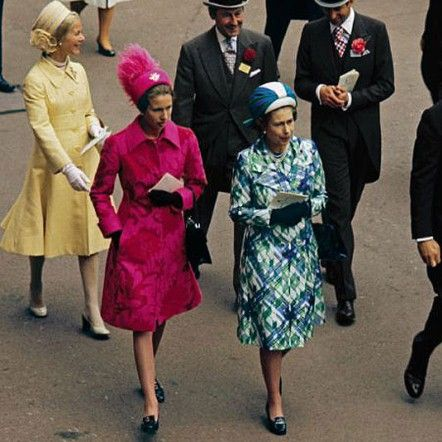 1974 - The Royal Family attends the Ascot.