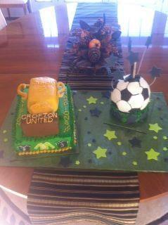 Soccer championship cake