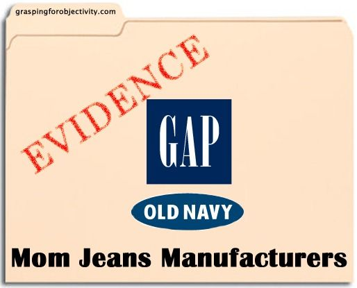 Conclusive evidence that Gap and Old Navy make Mom Jeans. Laughing hysterically.