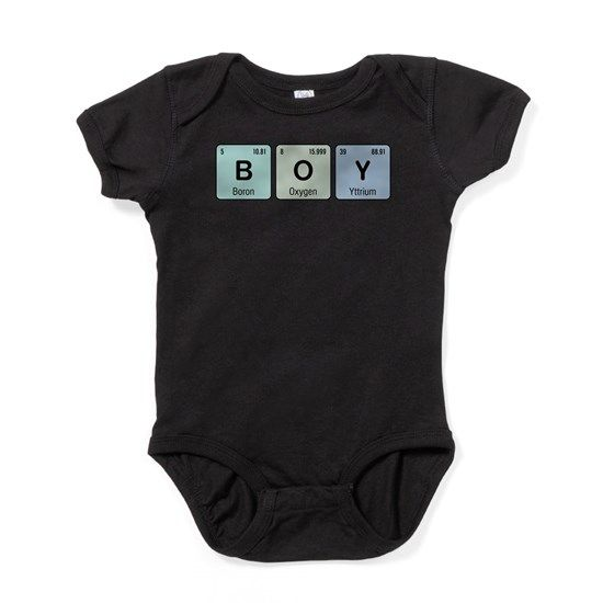 Periodic Table Of Elements Short Sleeve Babys Bodysuits