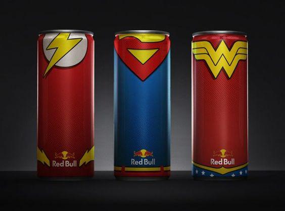 Latas Redbull Super Heróis   Nerd Da Hora