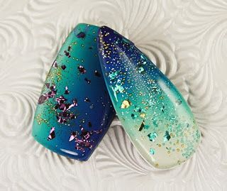 Kristie Foss Creations: New Year's Glitz.  Glitter flakes and micro marbles are suspended in resin layered over Skinner blends
