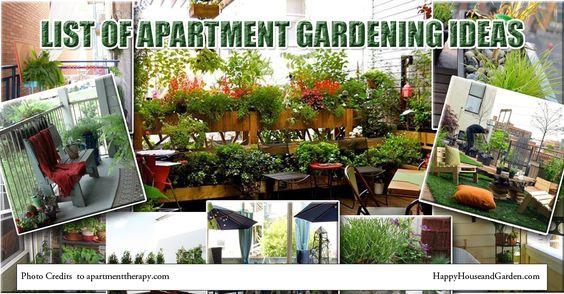 List of Apartment Gardening Ideas