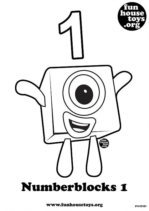 Numberblocks 1 Printable Coloring Page J Printables Free Kids Printable Coloring Math Activities Elementary