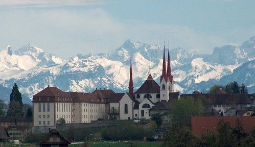 The famous Monastery of Muri (canton of Aargau), where the hearts of the last emperors are buried
