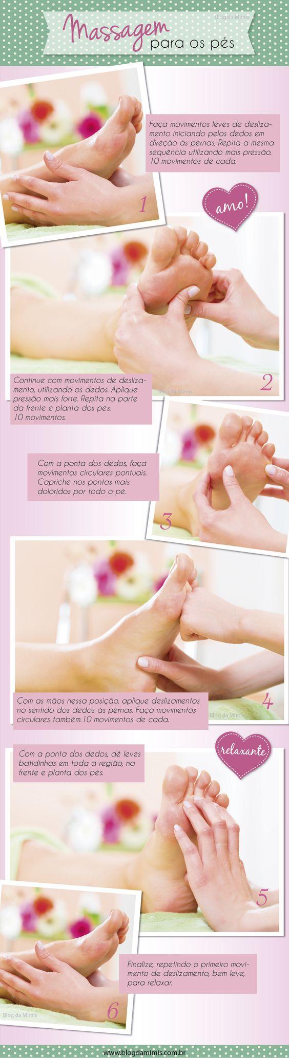 Massagem para os pés: