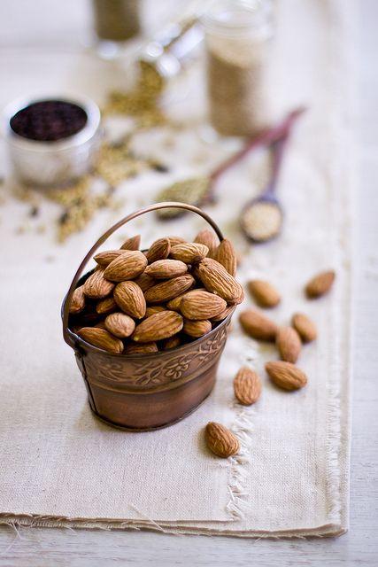 almonds: