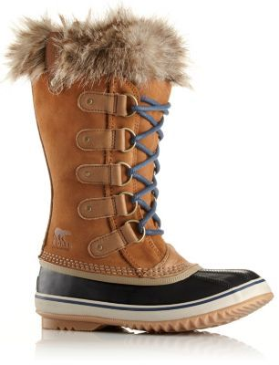 This winter, wear a Sorel classic, crafted of full-grain leather and suede with faux fur cuff. Waterproof outside, warm and cozy inside.