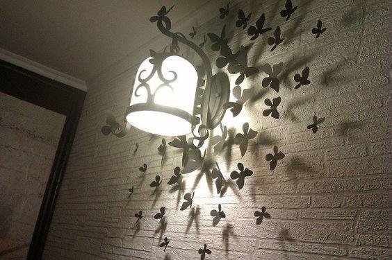 бабочки на стене своими руками: