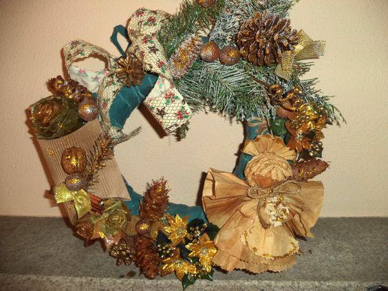 Coffee Filter Angel Wreath
