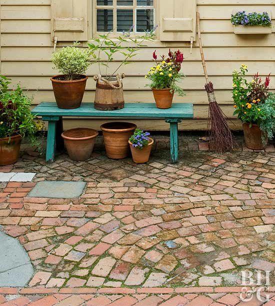 Build This Simple Broken Brick Patio In No Time Garden Paths