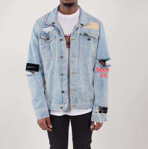 blvkstyle: Buy this dope denim jacketOnly at ERISBLACK: