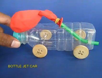 Esperimenti scientifici per bambini: automobiline con motore ad aria Esperimenti scientifici per ba...