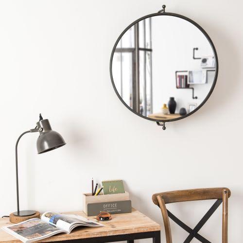 Spiegel Drehbar Mit Schwarzem Metallrahmen 69x60 Maisons Du Monde Zimmereinrichtung Wohnzimmersitzecke Wohnzimmersessel