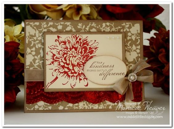 BLOOMING WITH KINDNESS METAL EMBOSSED CARD
