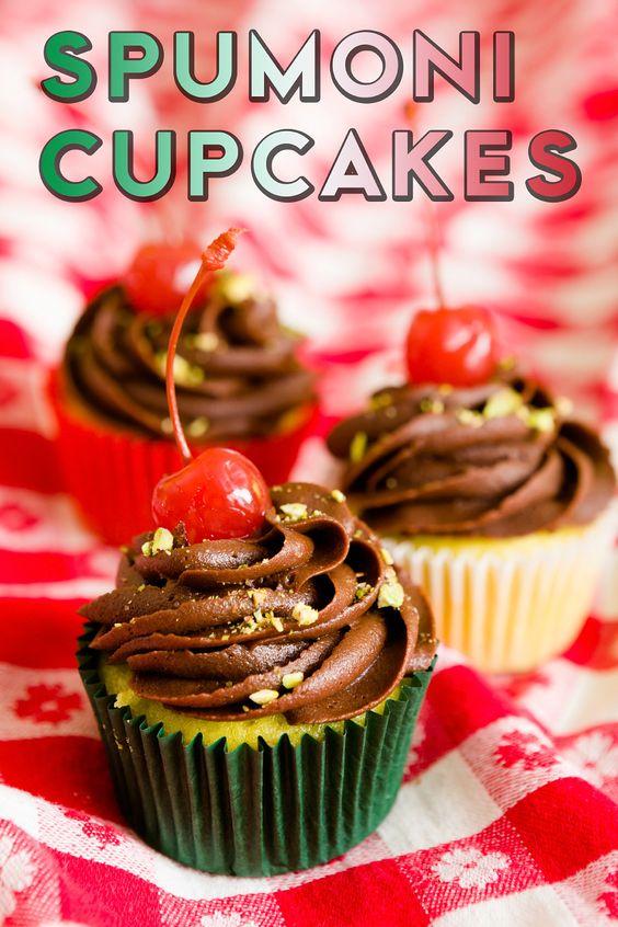 Spumoni Cupcake Recipe @Heidi Skillman - this made me think of 8th ...