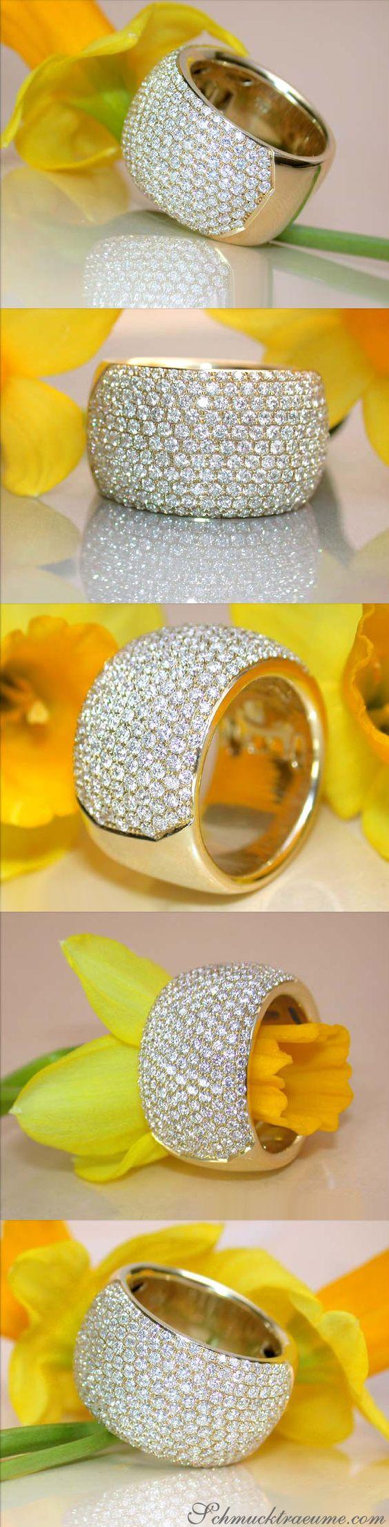Impressive Micro Pave Diamond Band (2.17 ct. G VS) in Yellowgold 18k - schmucktraeume.com Like: https://www.facebook.com/Noble-Juwelen-150871984924926/