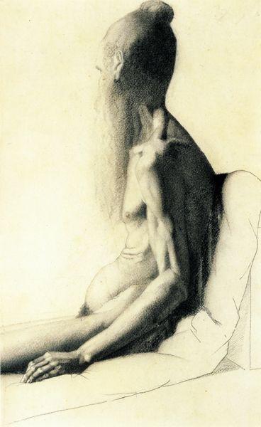 Seurat. Индийский нищий, 1878