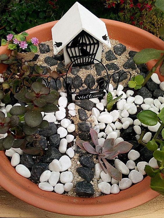 """A casa dos Pássaros"" - Mini -jardim"
