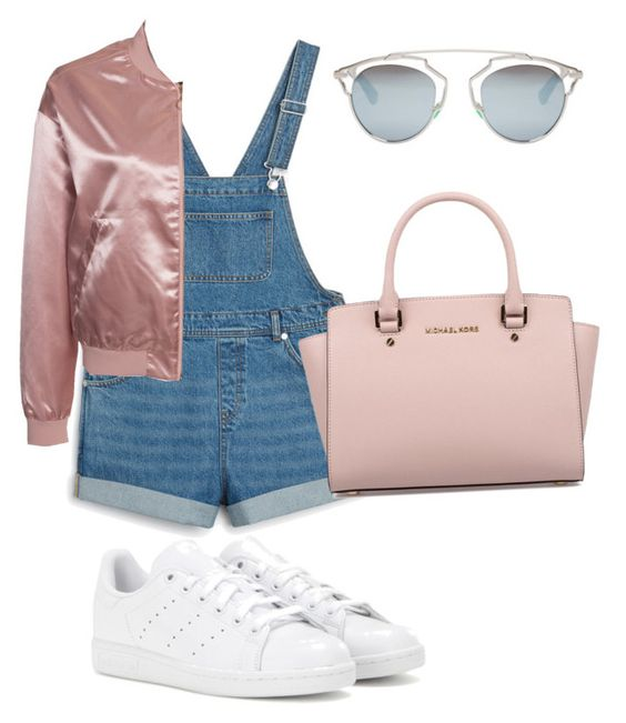 """""""shjdkwbxo"""" by goleatatiana ❤ liked on Polyvore featuring Monki, NLY Trend, adidas, Michael Kors and Christian Dior"""