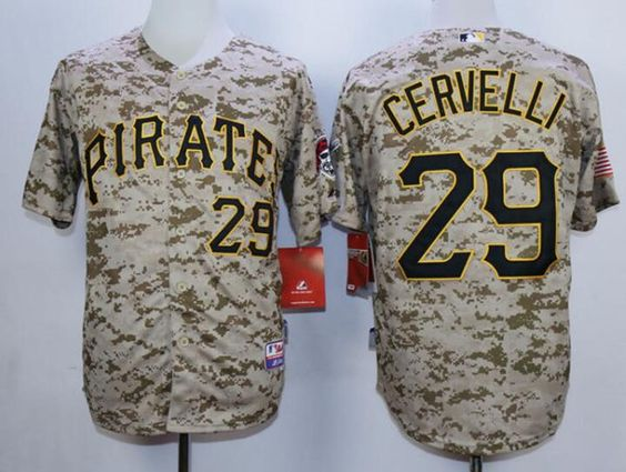 01f23be8dbb ... Mens Pittsburgh Pirates 29 Francisco Cervelli Alternate Camo Jersey MLB Jerseys  Pinterest Pittsburgh pirates ...
