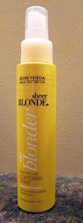 John Frieda Go Blonder Controlled Lightening Spray (Love this stuff!)