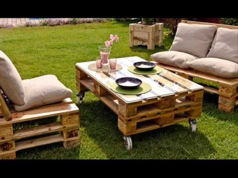 Muebles con Palets - YouTube