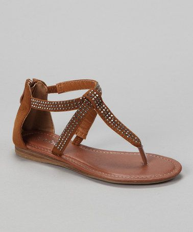 Take a look at this Link Tan Lidia-08K Sandal by Link on #zulily today!