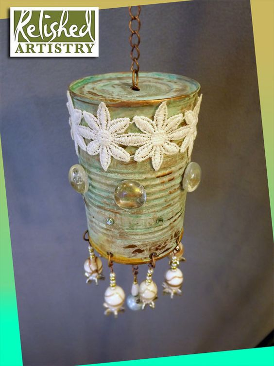 how to make wind chimes from tin cans