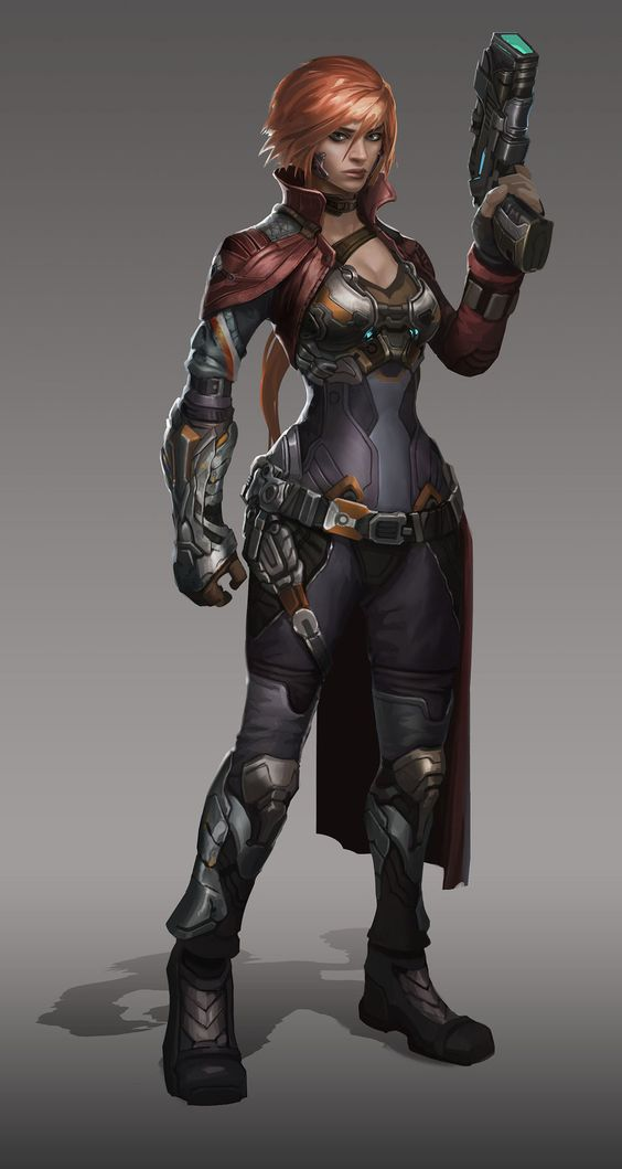 ArtStation - Scifi Chick, Jon Lee - The character in this picture brings to mind Alex's squadmates.