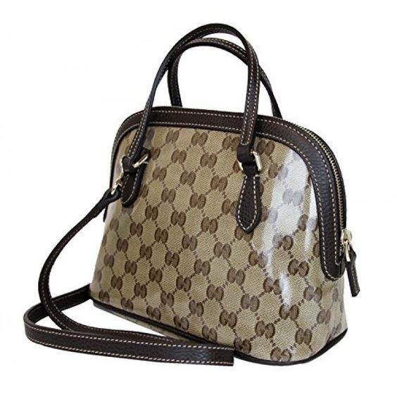 Gucci Beige Coated Canvas Cross Body Mini Dome Convertible Purse . Available at http://Brandinia.com