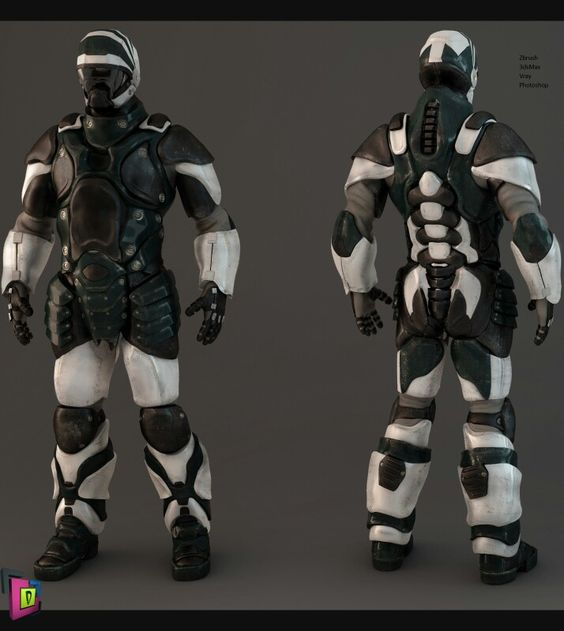 Concept character zbrush 3dmax vray