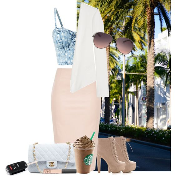 A fashion look from August 2014 featuring Chloé blazers, Chanel handbags and MANGO sunglasses. Browse and shop related looks.