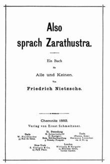Also sprach Zarathustra (boek) - Wikipedia