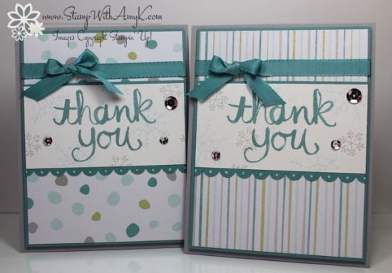 Stampin' Up! Watercolor Thank You for the Holidays