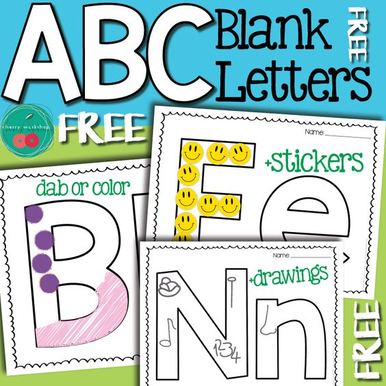 Blank Letter Printable Pages - Free Letter Practice Pages
