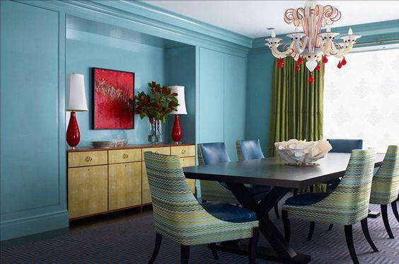 Verde azulado para el salón :: Imágenes y fotos
