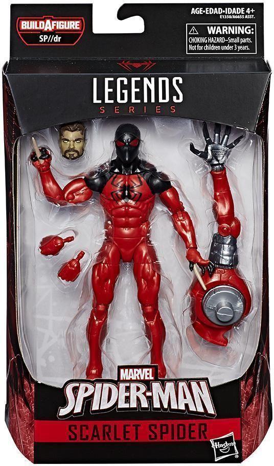 """Marvel Legends Scarlet Spider 6"""" Figure BAF SP DR Spider-Man Series Loose"""